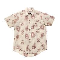 Golden Harvest VTG Horalio Yiscoyt Nelson Shirt Mens Sz M Short Sleeve Button Up