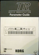 Korg TR Music Workstation Keyboard Parameter Guide Owner's Operating Manual