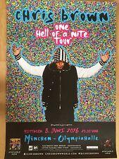 Chris Brown 2016 Munich-ORIG. concert poster-concert affiche NEUF