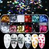 12 Grids 3D Butterfly Shape Nail Flakes Glitter Sequin Beauty Nail Art Decor
