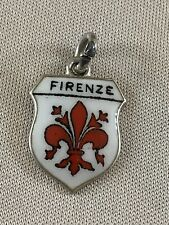 FIRENZE Silver Travel Shield Enamel Charm