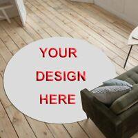 Customized Pattern Non-slip Round Soft Area Rug Floor Carpet Door Mat Home Decor