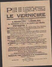 AMUSANTE PUBLICITE ANCIENNE PRODUITS D'ENTRETIEN LE VERNICIRE POUR MEUBLES