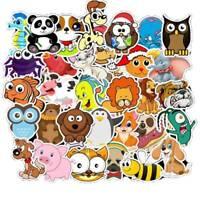 50pc Cartoon Animals Stickers Laptop Skateboard Fridge Suitcase DIY Decal Cxz