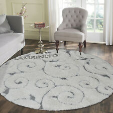 LUXURY CREAM THICK VISTA SHAGGY RUG CIRCLE ROUND SOFT SHAGGY RUG 120x120cm
