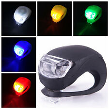 Outdoor Bicycle Safety Bike Front / Rear Silicone Warning Lamp LED Frog Light SH