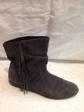 Top Shop Dark Grey Ankle Suede Boots Size 38