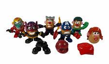 Qty 6 Marvel Avengers Mr Potato Head Mini Mixable Mashable Super Heroes Lot