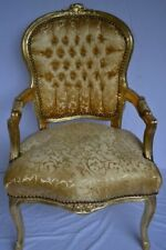 LOUIS XV ARM CHAIR FRENCH STYLE CHAIR VINTAGE FURNITURE GOLD