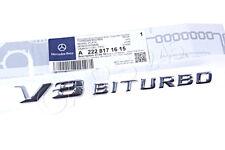 Original Mercedes C63 E63 S63 CLS63 AMG GT Schriftzug Kotflügel V8 Biturbo