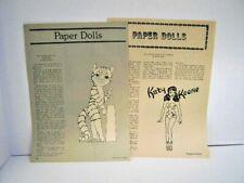 Vintage Women's Comfort Magazine Paper Dolls, Set of 2 Feb/August 1978 Uncut