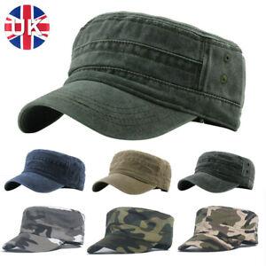 Unisex Camouflage Army Hat Camo Military Cadet Combat Fishing Baseball Cap uk,