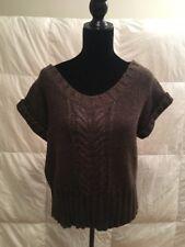 Nordstrom Mac & Jac Women's Brown Short Sleeve Sweater Size Medium