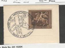 Germany, Postage Stamp, #B119 Used, 1938 Munich Fancy Cancel