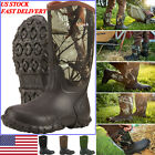 HISEA Men's Boots Rubber Neoprene Insulated Waterproof Boots for Hunting Fishing