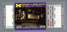 1979 NCAA OHIO STATE BUCKEYES @ MICHIGAN WOLVERINES FULL UNUSED FOOTBALL TICKET
