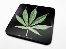 Sottobicchiere con stampa foglia cannabis (py)