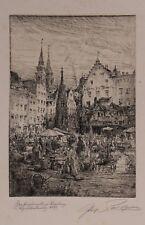 PAUL GEISSLER ETCHING, 1899