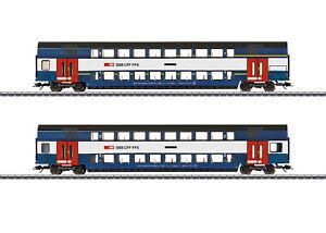 "Märklin 43574 Doppelstockwagen-Set ""Züricher S-Bahn"" der SBB 2-teilig#NEU in OVP"