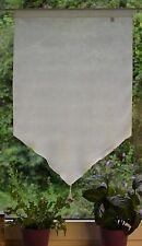 Bistrogardine Scheibengardine Quaste Dreiecksform Panneaux Hellgelb 60/90 cm