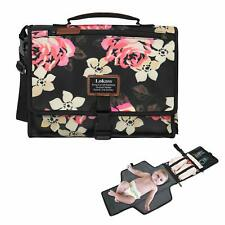 Srotek Portable Baby Changing Pad Lightweight Floral Diaper Clutch