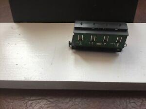 Egger. Bahn. Light Green Passanger Coach