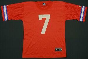 John Elway Denver Broncos Vintage 90's Starter NFL Football Jersey 48 Large