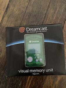 NIB Clear Green Visual Memory Unit VMU  Sega Dreamcast Official NEW IN BOX RARE