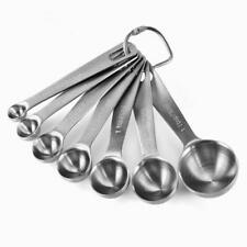 7-Piece Set of Stainless Steel Measuring Spoons
