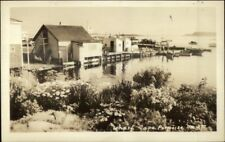 Cape Porpoise Me Wharf Real Photo Postcard