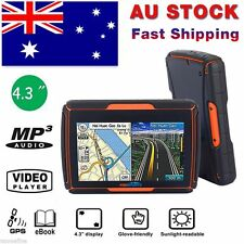 "4.3"" Motorcycle Bluetooth GPS SAT NAV Navigation Waterproof  Touch Screen + Maps"