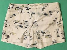 Old Navy Cotton White Scenic Pixie Shorts For Juniors/ Women -Size 2