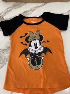 Disney MINNIE MOUSE Halloween T-Shirt Bat Vampire Short Sleeve 4T