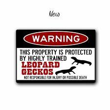 Leopard Geckos - Warning Sign