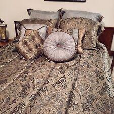 Qvc 10 piece Queen Comforter Set Animal Print Blue Green