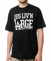JSLV Men's S/S T-Shirt LIVIN LARGE - BLK - Small - NWT