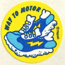 Vintage 80s Matte Trend Scratch & Sniff Sticker - Old Shoe - Mint!!