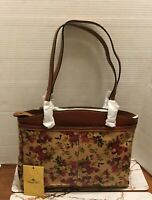 NWT Patricia Nash Antique Rose Poppy Leather Tote $249.00