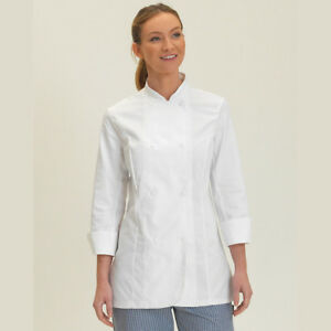 Dennys Long Sleeve Chef's Jacket Cooks Kitchen Top Studded Ventilated (DD33L)