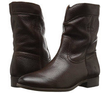 New Womens Frye Cara Roper Short Chocolate Brown Ankle Boots Bootie Shoe Sz 6.5