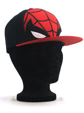 Spider-Man Fitted Hat Small-Medium Marvel Comics Black Red New With Tags
