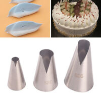 Stainless Steel Decorating Cream Pastry Nozzle Baking Tools Cakes Icing Piping