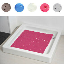 "Shower Mat Non-Skid Pebbles Bathmat PVC 20"" X 19"""