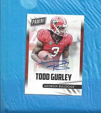 TODD GURLEY AUTO 2015 PANINI FATHER'S DAY AUTOGRAPH ROOKIE CARD