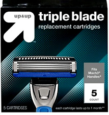 *MENS RAZOR REPLACEMENT 5 PACK CARTRIDGES 3 BLADE UP & UP fits GILLETTE MACH3
