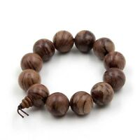 20mm New Wood Tibet Buddhist Prayer Beads Mala Bracelet Bangle High Quality