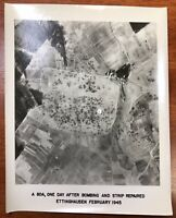 WWII Air Force Photo 67th Group Aerial Recon Bomb Damage Assessment Train 1945