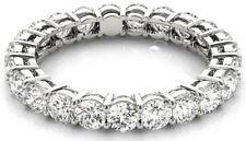 2.20 carat Round Diamond Ring Platinum Eternity Band F-G VS/SI1, 22 x 0.10 sz 6