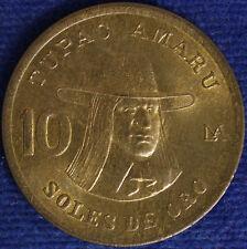 PERU' 10 SOLES DE ORO 1982 #1750A
