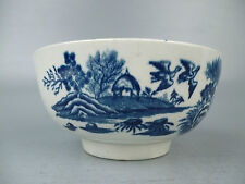 Diminutive Dr Wall Period 18C Worcester Porcelain Bowl - English Caughley Pc